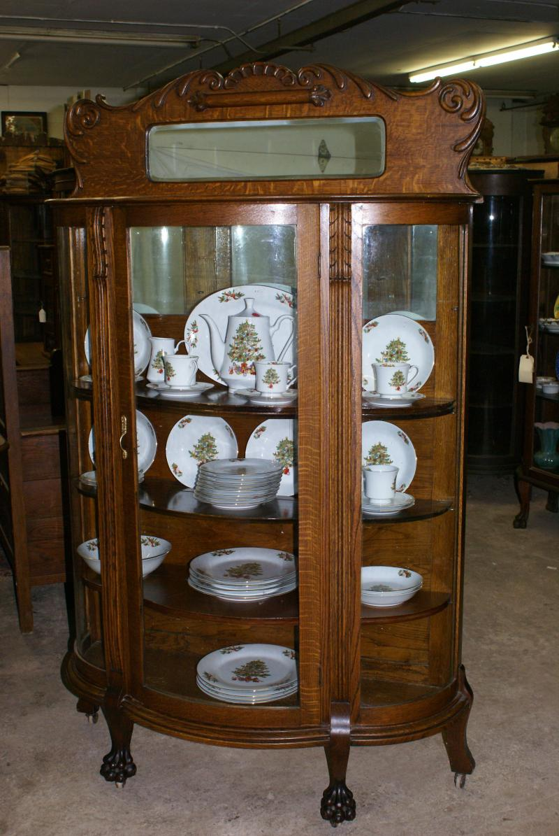 Circa 1890 Oak China Cabinet in Original Condition, (SOLD)