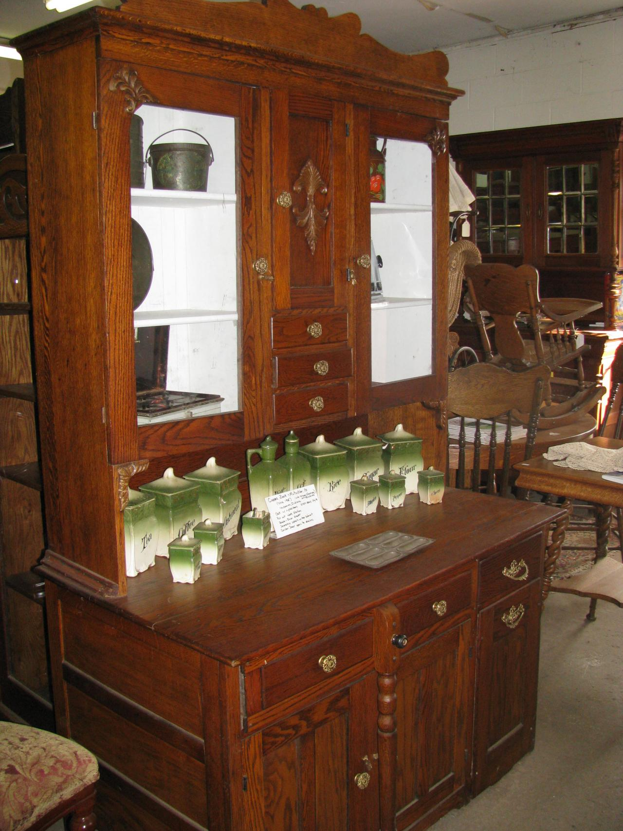Bakeru0027s Cabinet Circa 1905 Coppes Zook Matschler Co; Daughter Size Sellers  ...