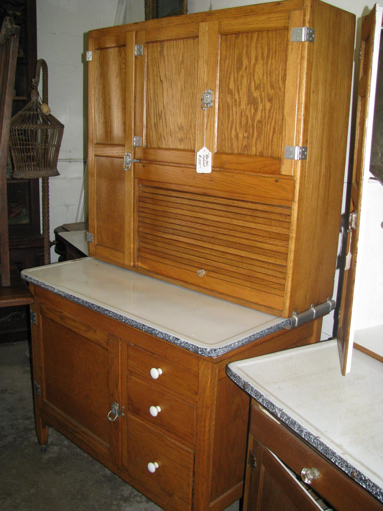 Antique kitchen cupboard -  Sellers Oak Bakers Cabinet Circa 1916 1920 Mcdougall Bakers Kitchen