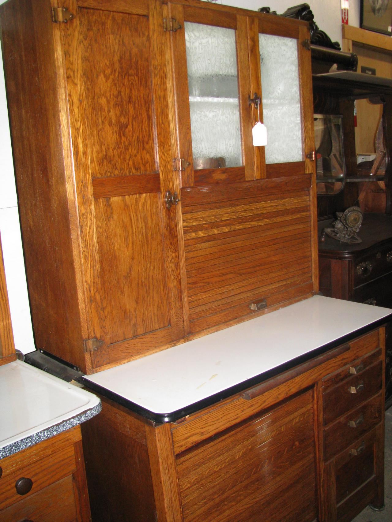 ... Napanee Bakers Cabinet W/ 2 Roll Down Doors Circa 1920 ...