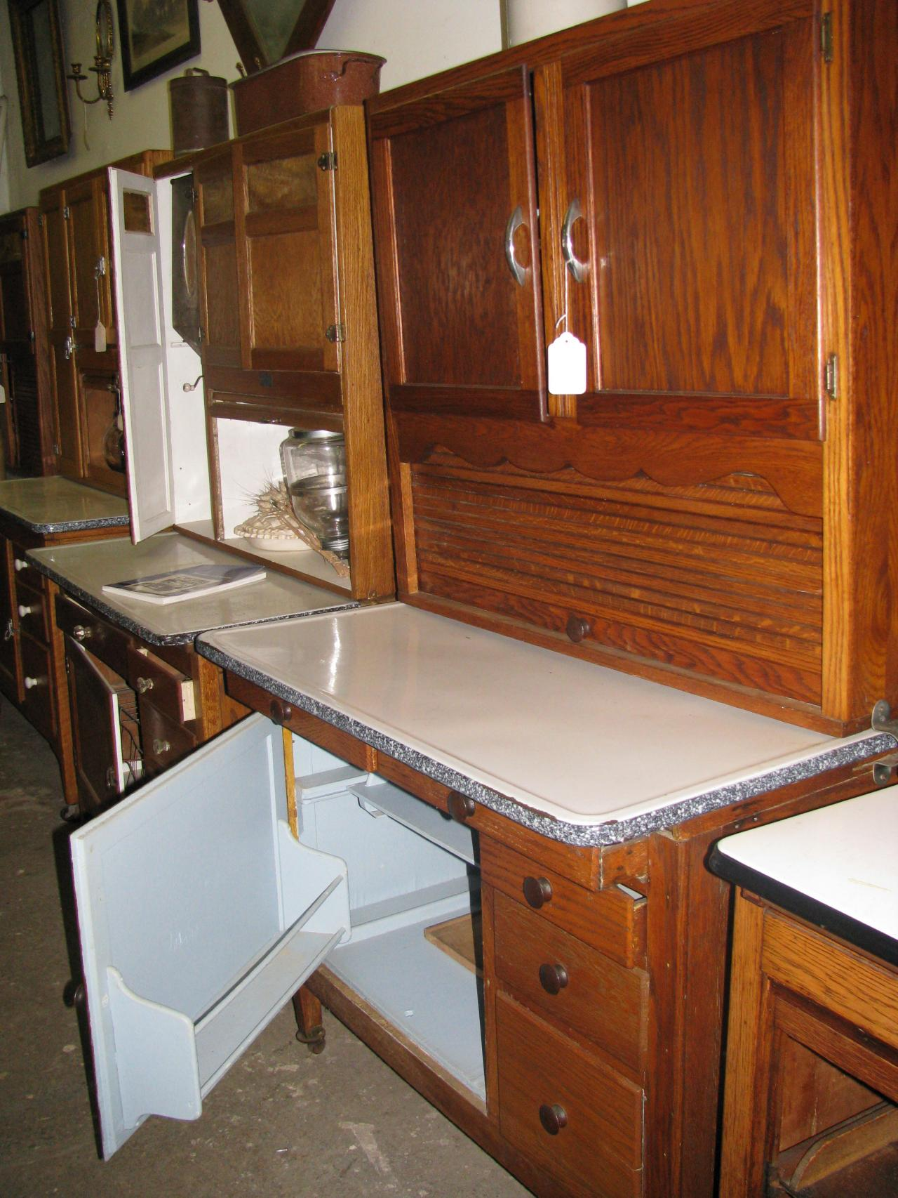 Amazing ... Hoosier Bakers Kitchen Cabinet Circa 1917 1920 ...