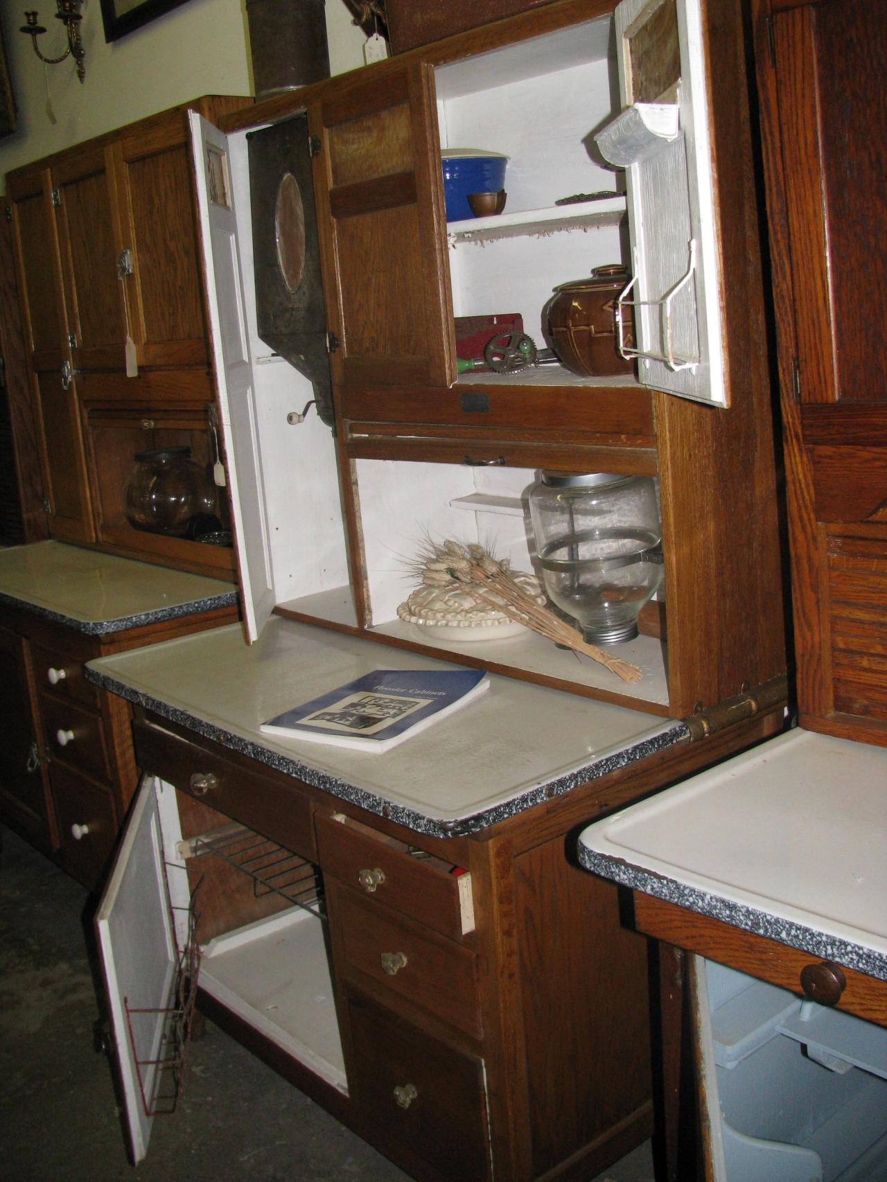 Hoosier Kitchen Cabinet Zs Antiques Restorations Hoosier Bakers Cabinets Including