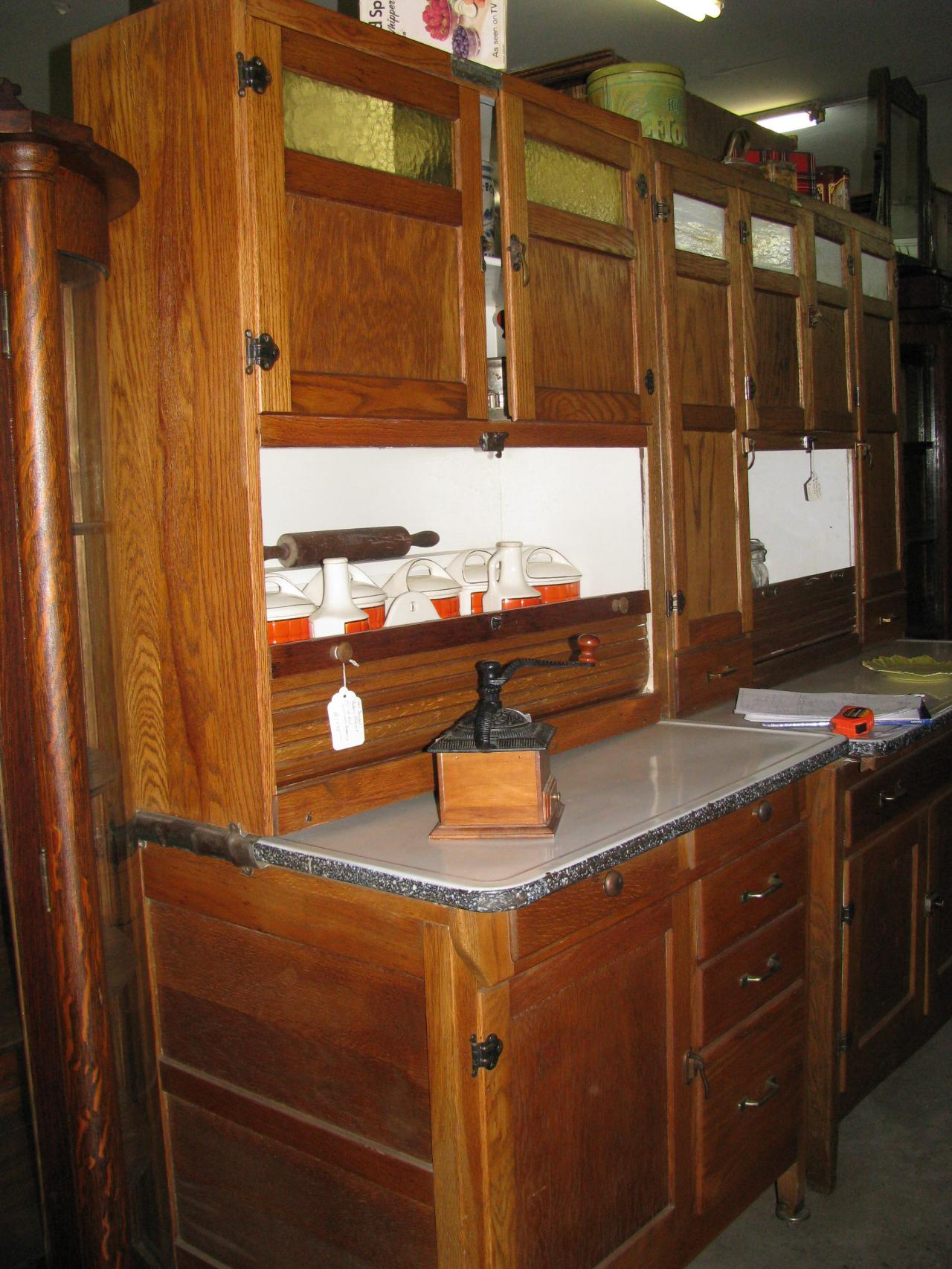 Ordinaire ... McDougall Bakers/Kitchen Cabinet Circa 1916 Disappearing Auto Front  Roll Door ...
