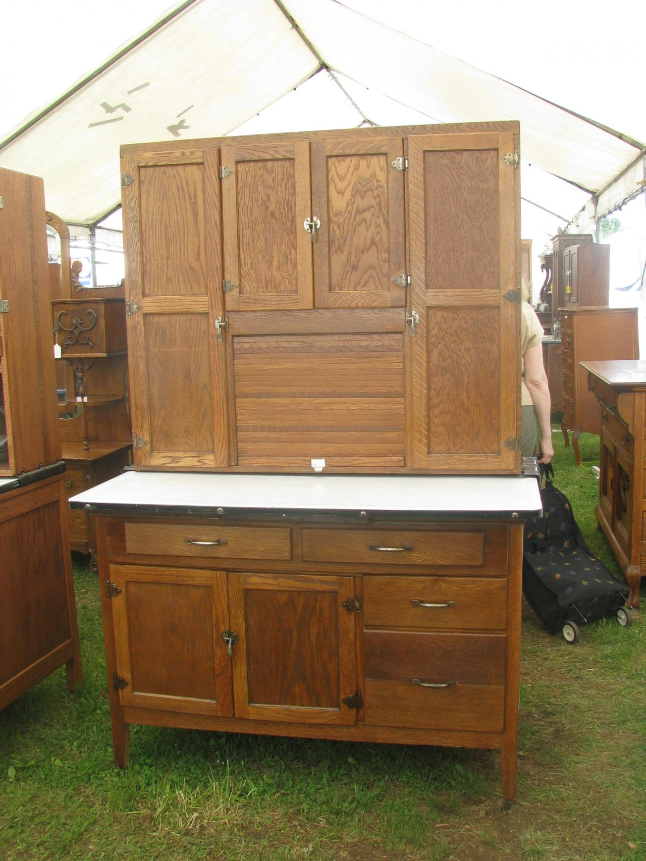 ... Sellers Hoosier Cabinet; Sellers Oak Bakers ... - Z's Antiques & Restorations - Hoosier/Baker's Cabinets Including Yet