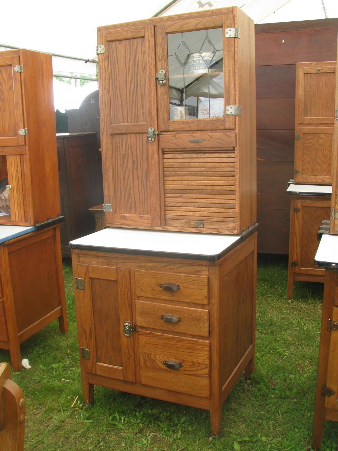 Superb Bakeru0027s Cabinet Circa 1905 Coppes Zook Matschler Co; Daughter Size Sellers  Cabinet, Just Received, Two In Stock, $2595.00@ ...